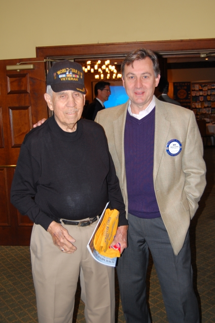 Mike Gartside with Mr. Orvin, WWII Veteran