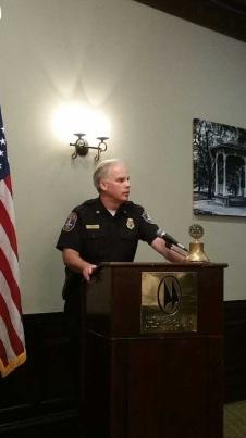Chief mullen at podium